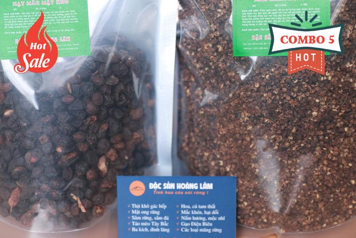 combo 5 gia vi moi - 2kg Hạt mắc mật khô