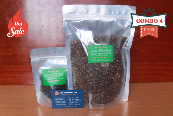 combo 4 gia vi - 2kg Hạt mắc mật khô